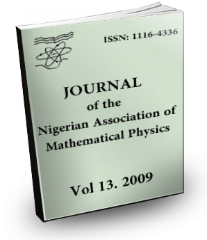 Volume 13 Journal Nigerian Association of Mathematical physics