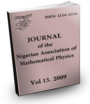 Volume 15 Journal Nigerian Association of Mathematical physics